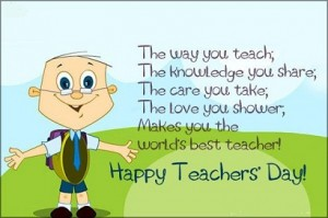 Happy Teachers day sms