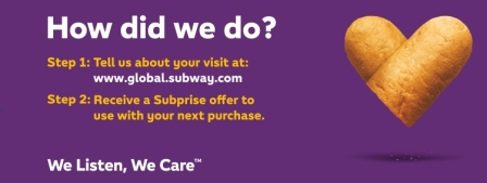Subway listens Survey Guide